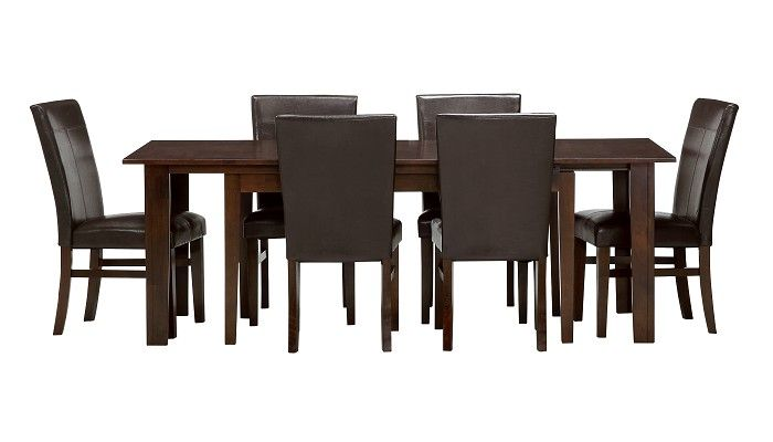 Slumberland Furniture Kona Collection 7 Pc Parsons Dining Set Slumberland Furniture Stores
