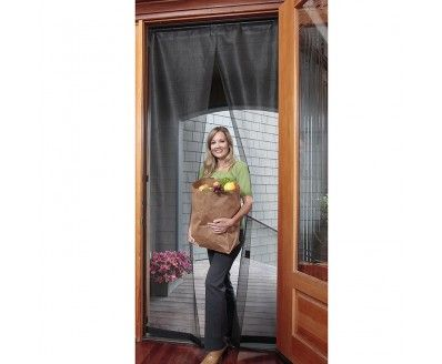 """Bug Off Instant Screen Door with Magnetic Closure for a Single or Sliding Door, 36"""" W x 80"""" H"""