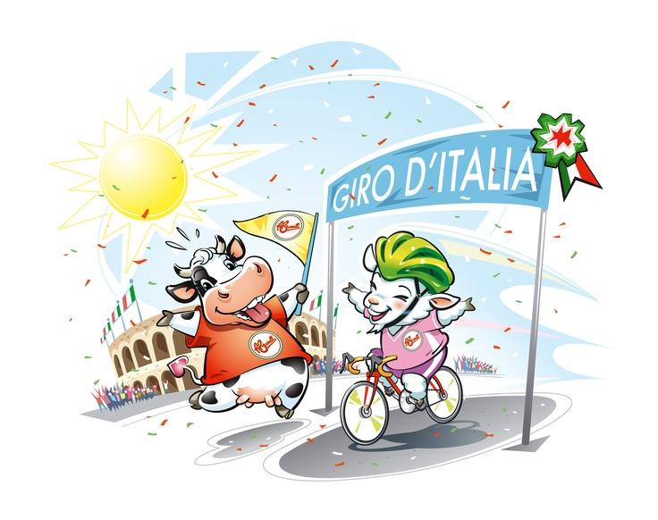 Stanotte le nostre amate mascotte hanno fatto un sogno: partecipavano al Giro d'Italia e addirittura vincevano una tappa. Purtroppo ci sembra che abbiano sbagliato ambientazione, però... ci aiutate a capire di quale tappa si tratta?