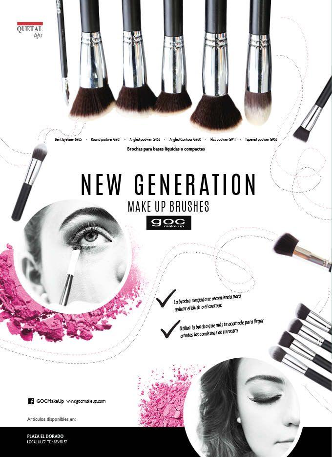 """Crea un maquillaje perfecto con un toque profesional con las brochas de goc """"New Generation""""  No te pierdas más detalles en nuestra edición impresa de #noviembre2016 #makeupbrushes"""