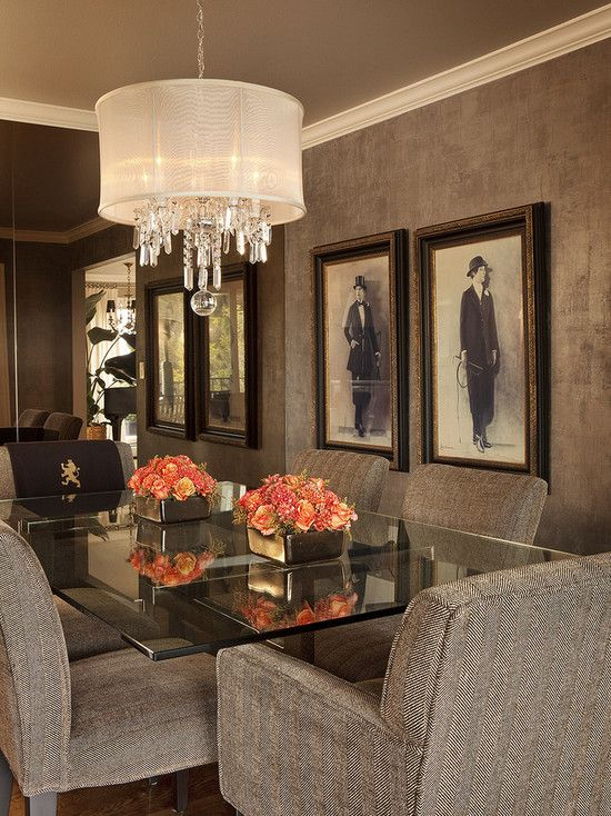 Stunning Dining Room. Love the fixture  So much luxury.