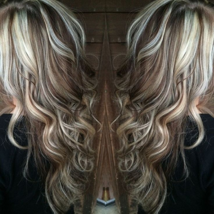 dramatic dimensional highlights haircolor