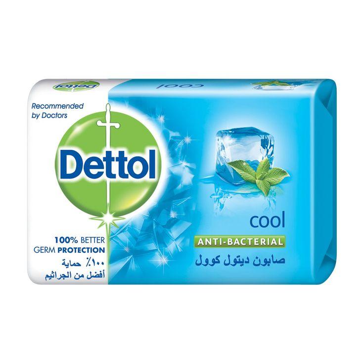 صابون ديتول كوول المضاد للبكتريا ، يجمع بين الحماية الموثوقة من الجراثيم مع المنثول لنظافة منعشة، ونشاط و حيوية.