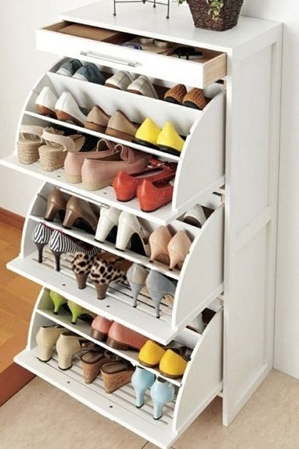 Shoe Closet a Mess? Try these 19 Genius Storage Solutions via @PureWow