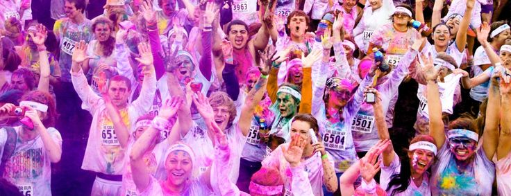 The 5K Color Run takes place in 30 US cities, turning runners from white-shirted to rainbow-shirted at the end.  Let's just say there are bursts of color in between.  Bucket List item for sure - who's with me?