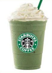 starbucks green tea frapps.. yum
