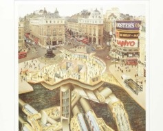 1989 Piccadilly Circus London Underground Poster