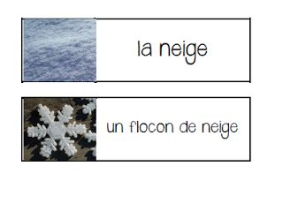 Primary French Immersion Resources: Les jeux de mots d'hiver
