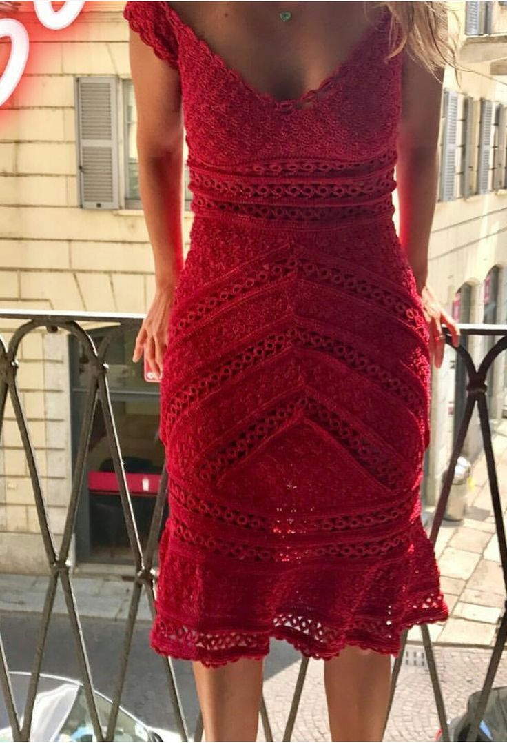 I love the color and the closed together stitch; it isn't a see through dress.
