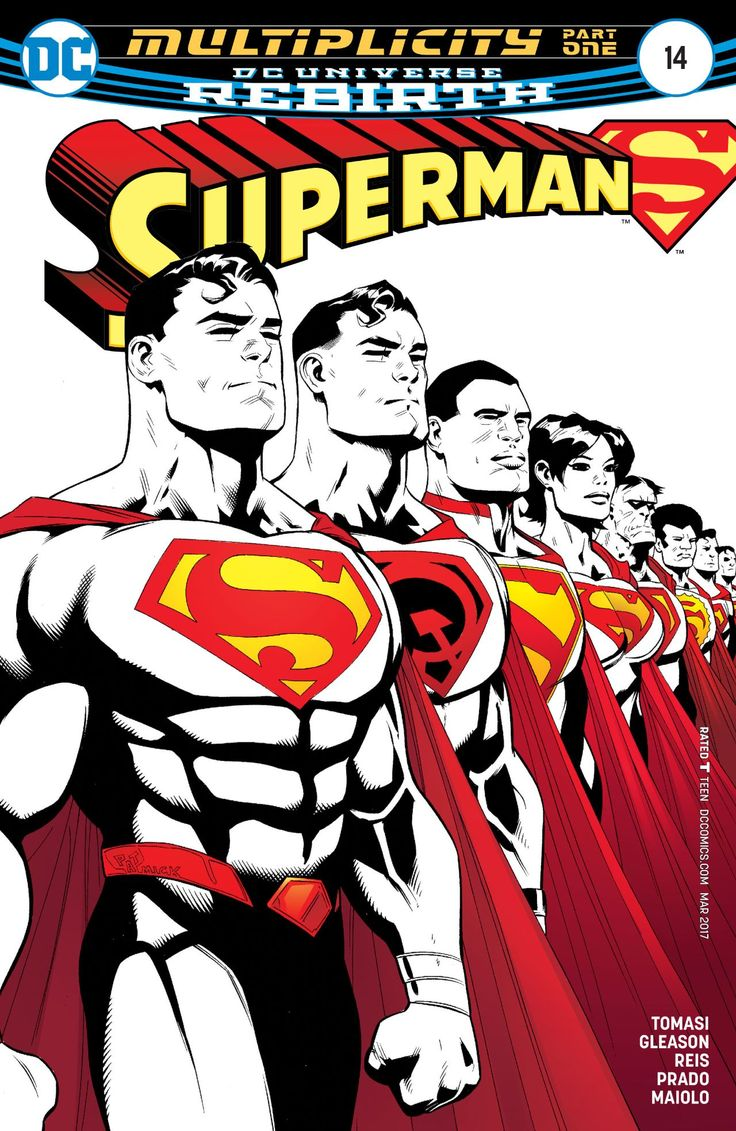 Superman (2016-) #14  The New Super-Man of China has been taken! The Red Son Superman of Earth-30 has been beaten! And who knows what's happened to Sunshine Superman! Someone is collecting Supermen across the Multiverse-this looks like a job for our Kal-El as he is joined by Justice Incarnate in this multi-Earth epic!