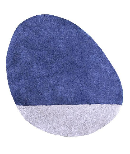 MiPetiteLife.es - Alfombra Lilipinso infantil stone azul oscuro. Bi-colores y diseño de la alfombra. Alfombra Pequeño, todas únicas con formas originales. Para una suave y esponjosa para jugar o simplemente tumbarse espacio.De luz, los niños pueden moverse con facilidad para adaptarse a susnecesidades. Disponible en 8 colores armoniosos. Fabricación artesanal. Alfombra de algodón Fabricación : India www.MiPetiteLife.es