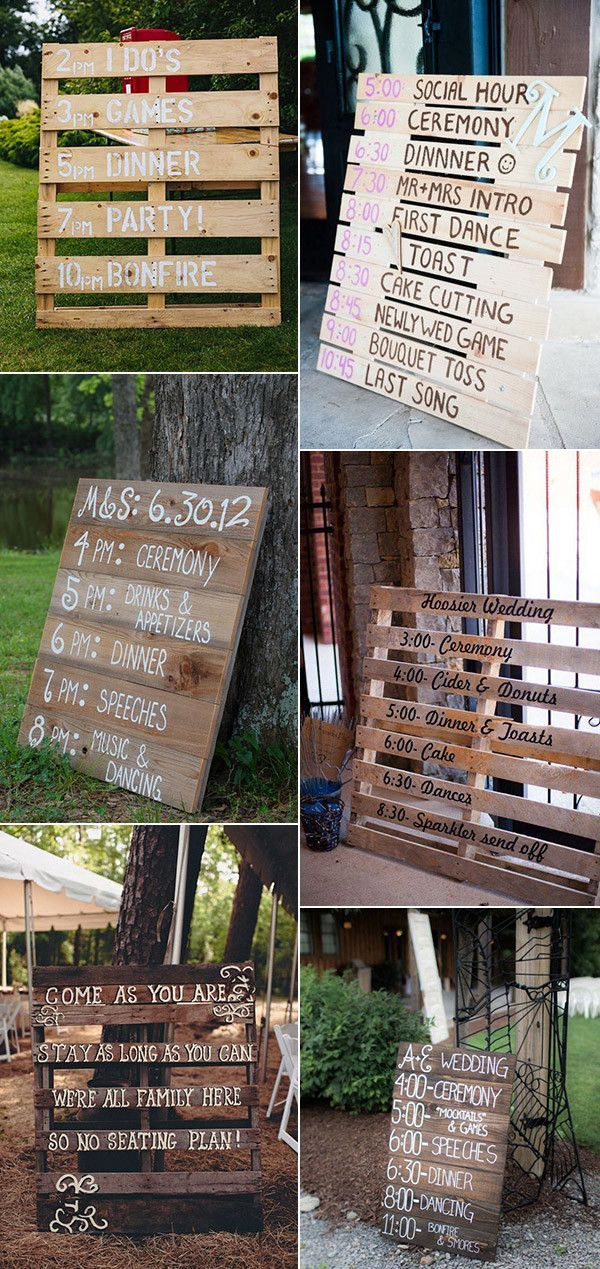 wooden pallet wedding signs for country rustic eve…