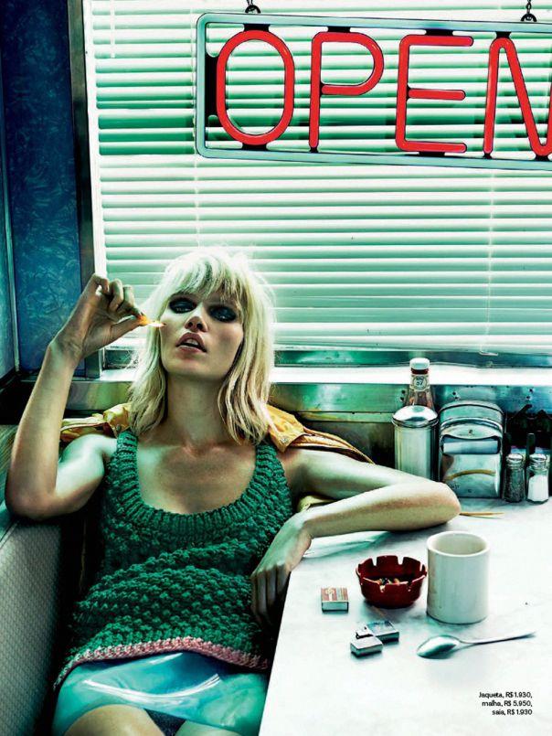Vogue Brazil September 2014 | Aline Weber by Giampaolo Sgura | Miu Miu Fall 2014
