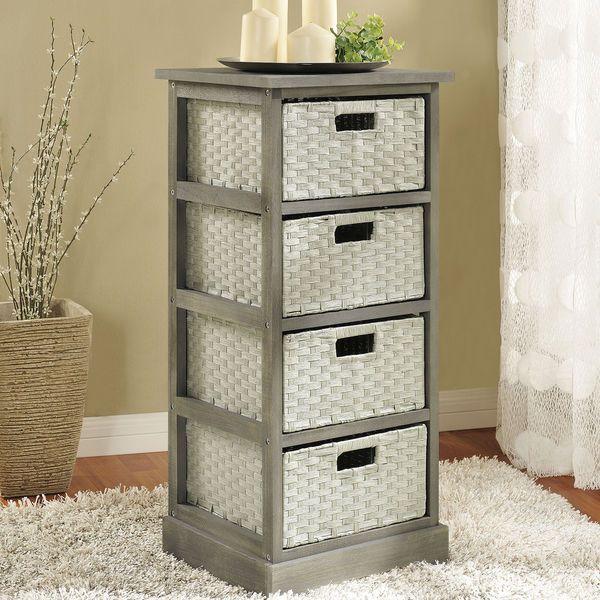Storage Organizing Stand Wood Woven Baskets Bins Drawer Cart Rack Hanger Garage  #StorageOrganizingStand