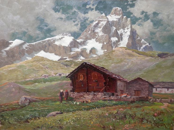 Leonardo Roda (1868-1933), Sotto il Cervino.