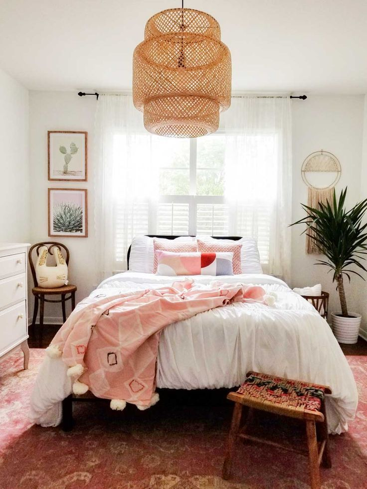 Boho bedroom inspiration bedroom in 2019 bohemian - Bedding and curtains for bedrooms ...