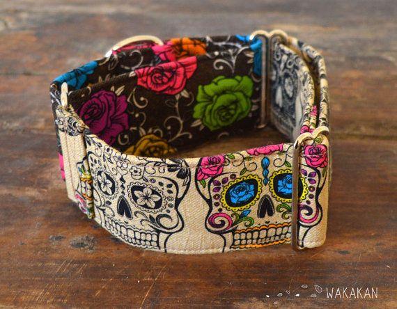 Martingale dog collar model Tattoo Addiction. por Wakakan en Etsy