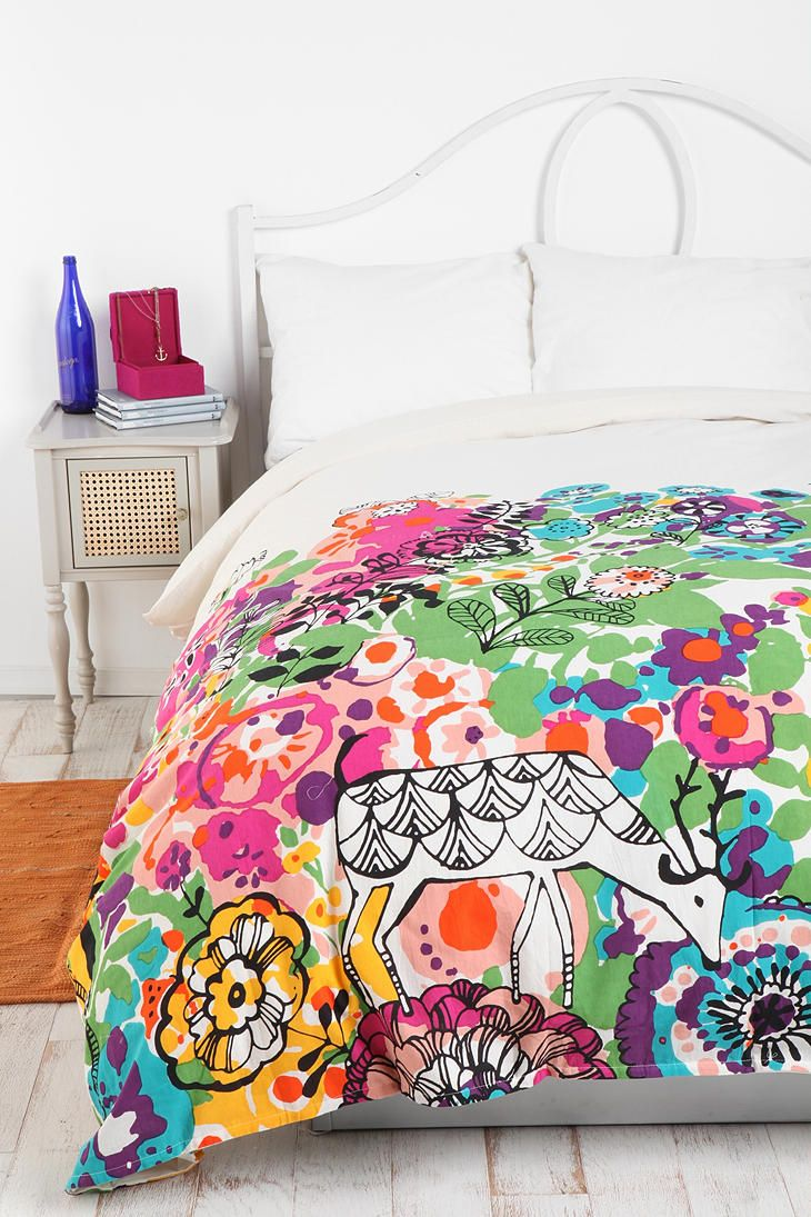 Woodland Garden Duvet Cover  Online Only  $79.00 - If I had a little girl, I'd totally get this for her!