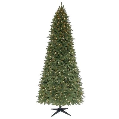String Lights Christmas Tree Martha Stewart : Martha Stewart Living 9 ft. Pre-Lit Downswept Wimberly Slim Spruce Artificial Christmas Tree ...
