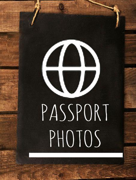 Tür- & Namensschilder - PHOTOBOOTH Schiefertafel Hochzeitsthema Reise - ein Designerstück von Crafts_and_Deco bei DaWanda