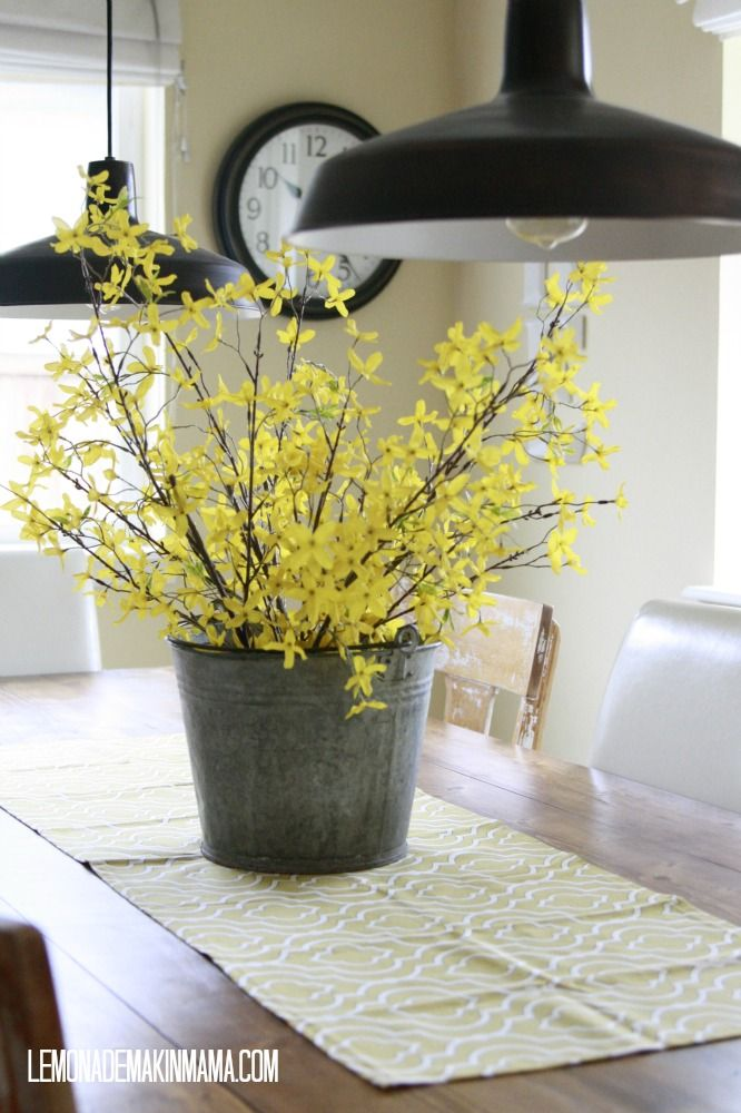 17 best ideas about kitchen table centerpieces on for Kitchen table arrangement ideas