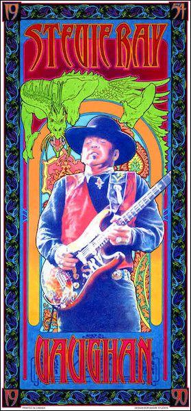 bob masse posters | TrippyStore.com - Bob Masse - Stevie Ray Vaughan - Concert Poster