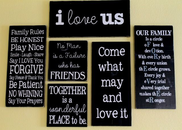 Quote Gallery Wall on http://lilluna.com: Wall Art, Crafts Ideas, Families Wall, Quotes Wall, Stuff, Quotes Galleries, Galleries Wall, Wall Quotes, Wall Of Quotes