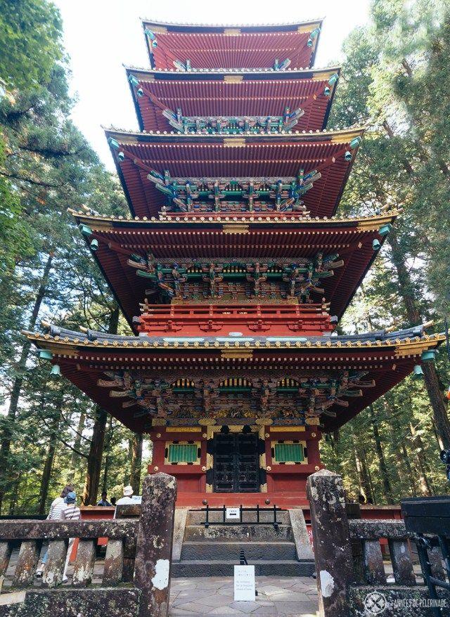 The grand Pagoda at the Toshogu Shrine in Nikko, Japan