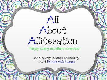 This alliteration freebie is a fun packet of activities and book suggestions for teaching your kiddos about using alliteration. I hope you enjo...