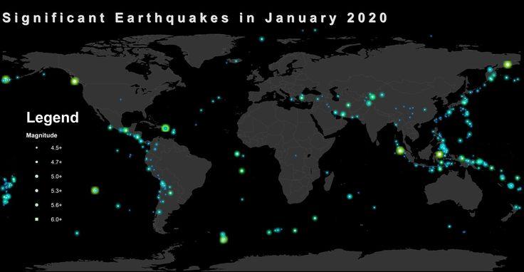 خريطة الزلازل حول العالم Cartography Map Earthquake Data