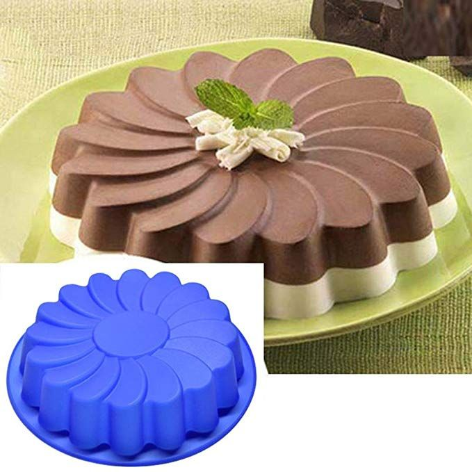 Jareally Silicone Large Flower Cake Mould Chocolate Soap Candy Jelly Mold Baking Pan 1 Cake Mould Review Cake Molds Silicone Cake Mold Cake Decorating Tools