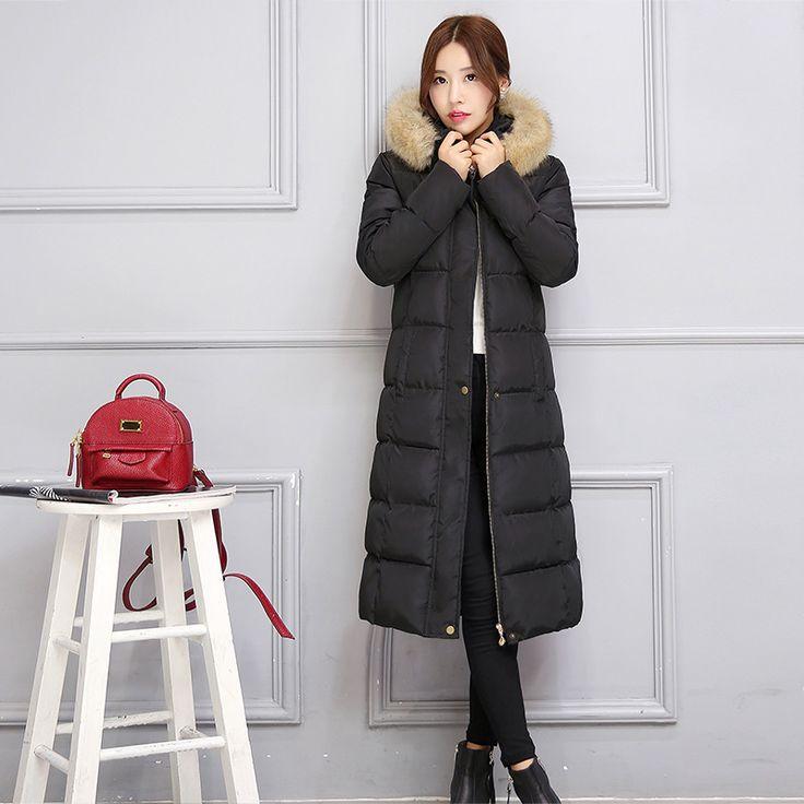 2016 Women Winter Coat Down Parka Jacket Snow Wear Ukraine Fur Faux Fur Female Long Outerwear Coats and Basic Jackets Overcoat