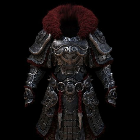 ArtStation - Ancient warrior, 금속, 갑옷