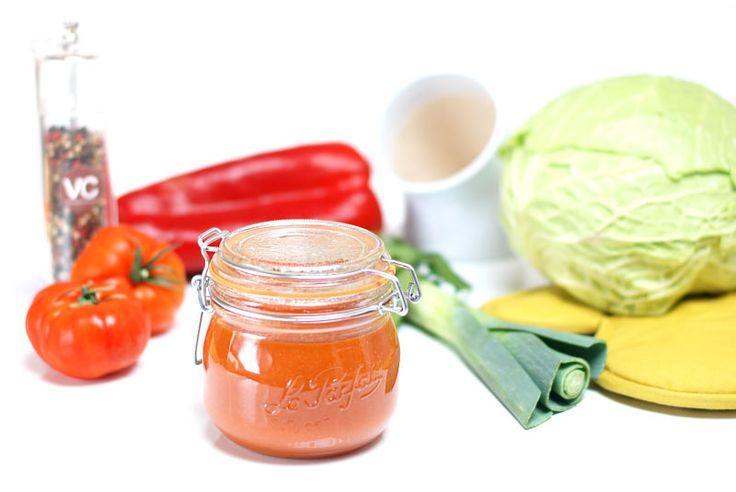 Sopa o crema de verduras depurativas