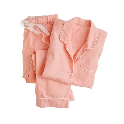 "obsessed with this J.Crew vintage short-sleeve pajama set in ""melon spice"""