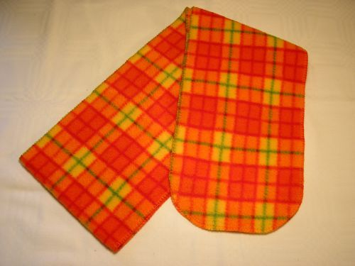 Childs Orange Tartan Fleece Scarf from Jacaranda £4.50