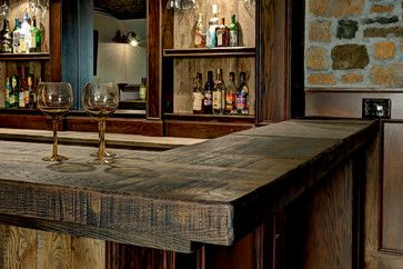 Custom Basement Bar - rustic - Basement - Columbus - Dave Fox Design Build Remodelers