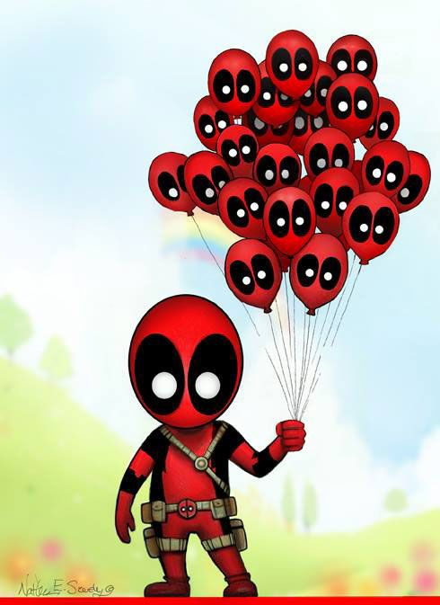 #Deadpool #Fan #Art. (Deadpool Ballons) By: Nathan Szerdy ...