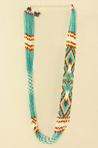 Turquoise beadwork