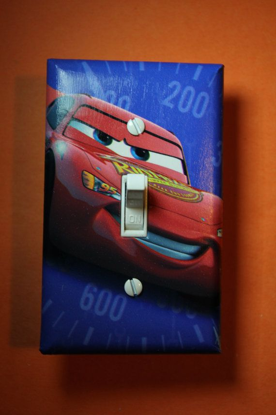 Cars Lightning Mcqueen Tow Mater Light Switch Plate Cover