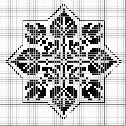 Octogonal 06 | Free chart for cross-stitch, filet crochet | gancedo.eu
