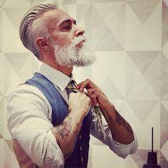Cheveux gris hommes!