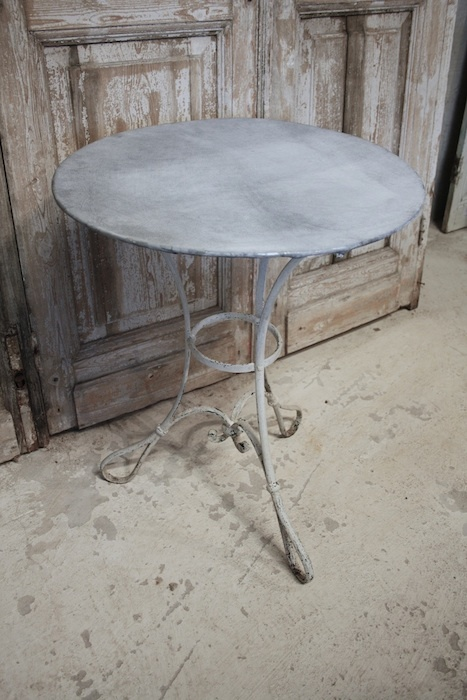 Zinc Top Table: Lovely In The Garden, Combines So Well With Flowers And  Foliage