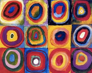 Granny square inspiration. Wassily Kandinsky; Color Study: Squares with Concentric Circles, 1913.