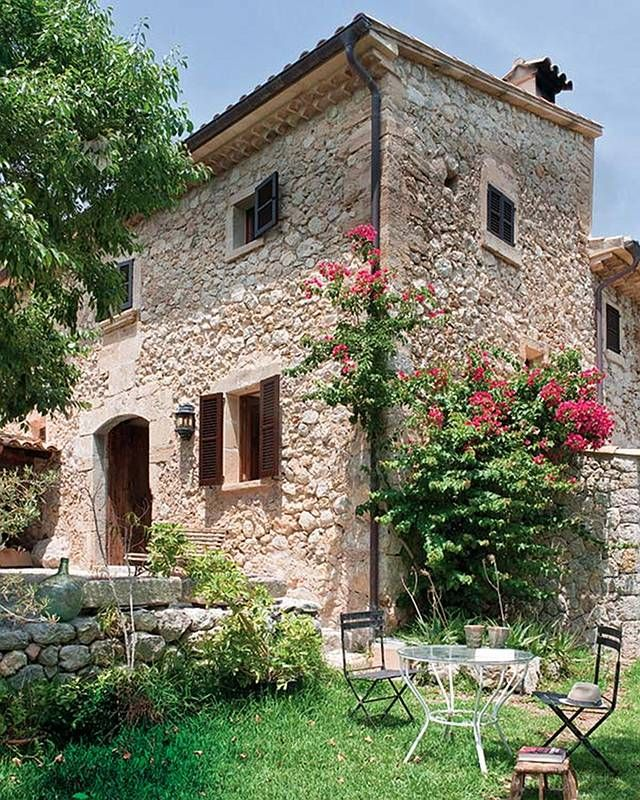 Cottage in Mallorca, Spain...check out the inside...it's fabulous! http://www.homebunch.com/cottage-of-the-week-mallorca-spain/