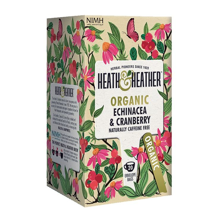 Heath & Heather Infusion Echinacée Cranberry 20 sachets