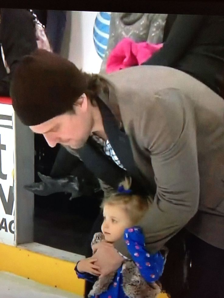 Patrick Sharp and his daughter Madelyn.