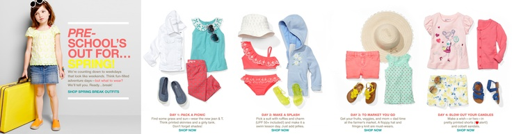 Baby Gap 2013 Spring Break Outfits