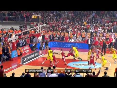 Highlights Olympiacos BC - FC Barcelona 23-4-2015 -    Είσαι στο μυαλό κάτι μαγικό !!!!