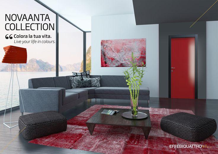 Colora la tua vita con Novaanta, la porta Effebiquattro piena di energia e passione per i colori.